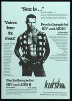 """Sex is..."" ""Voices from the Front."" Psychotherapie bei HIV und AIDS I. Psychotherapie bei HIV und AIDS II"