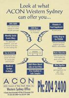 Look at what ACON West Sydney can offer you . .