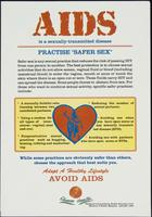"AIDS is a sexually-transmitted disease. Practise ""safer sex"""