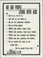 We are people living with AIDS
