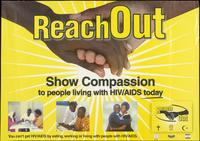 Reach out. Show compassion to people living with HIV/AIDS today