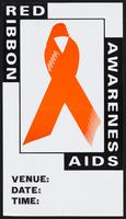 Red ribbon. Awareness AIDS