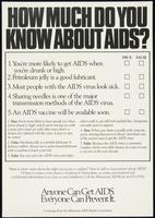 How much do you know about AIDS?