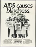 AIDS causes blindness