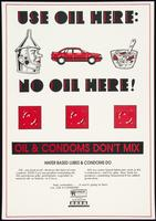 Use oil here: No oil here!